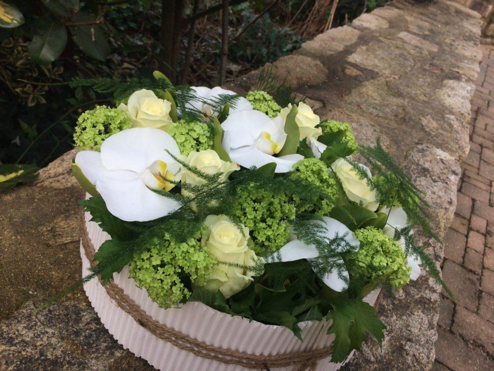 Fleur pour enterrement, composition deuil, muzillac, ambon, damgan
